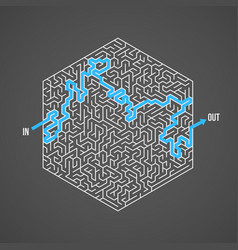 Maze labyrinth greek puzzle with solution vector