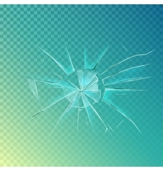 Mirror or broken glass cracked shattered window vector