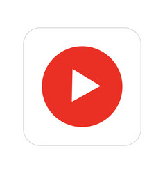 Modern video icon on white background vector