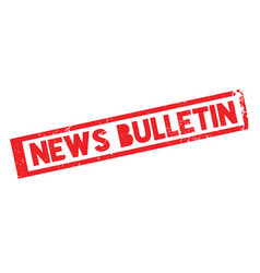 News bulletin rubber stamp vector