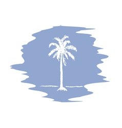 Palm logo serenity vector