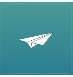 Paper plane sign vector