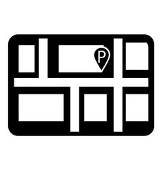 parking icon simple style vector image vector image