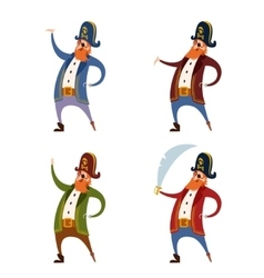 Set of Pirates vector image