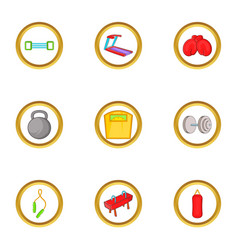 sportswear icon set cartoon style vector image