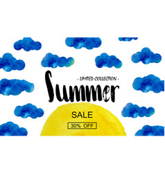 Summer big discount special offer for the summer vector