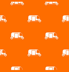 thailand three wheel native taxi pattern seamless vector image