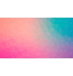 Tial and pink abstract polygonal background vector