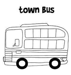 Town bus art vector image