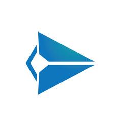 triangle arrow right logo vector image vector image