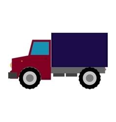 Truck flat design on white vector image