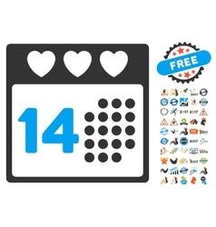Valentine love day icon with 2017 year bonus vector
