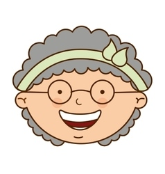 Grandmother cute character icon vector