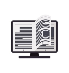 Ebook computer online reading internet icon vector