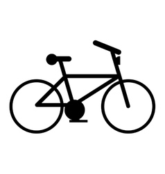 Isolated bike and healthy lifestyle design vector