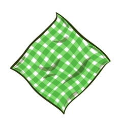 Cartoon striped napkin vector