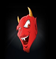 Satan smiling vector