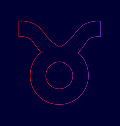 Taurus sign   line icon with vector