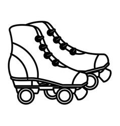 skates wheels isolated icon vector image