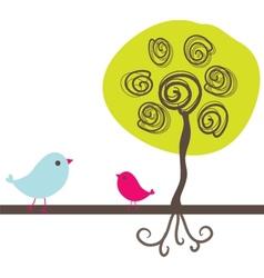 Birds couple in love vector image