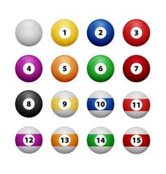complete billiard balls vector image