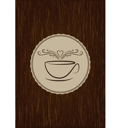 coffe house menu cover vector image