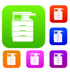 Multipurpose device fax copier and scanner set vector
