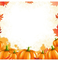 Orange pumpkins frame vector
