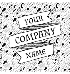 Company slogan template vector