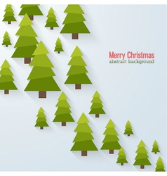 Abstract background with christmas trees vector image