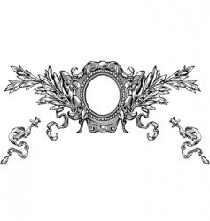 heraldry background vector image