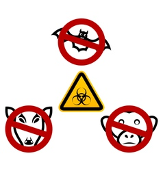 Stop signs in order to avoid disease ebola virus - vector