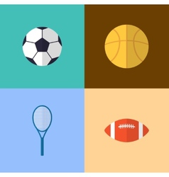 Flat game icons vector