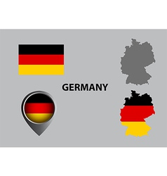 Map of germany and symbol vector