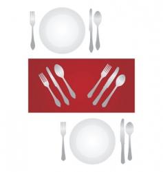 Dinner set vector