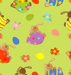 seamless easter bacground vector image