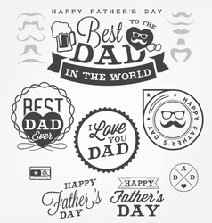 Happy fathers day badges and labels vector
