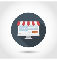 Online shoping concept flat vector image