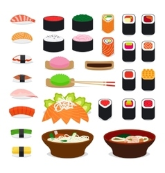 Asia food icons vector