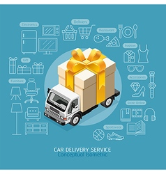 Car Delivery Service Conceptual vector image