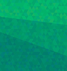 Abstract green triangular background vector image