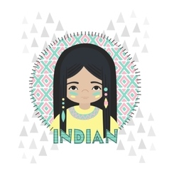 American indians girl vector