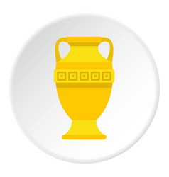 ancient gold vase icon circle vector image