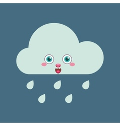 Blue rain cloud vector
