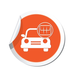 Cars transmission orange label vector