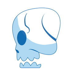 Comic skull human side view image vector