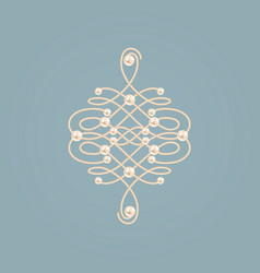 elegant golden knot sign vector image