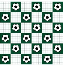 Football Ball Green White Chess Board vector image