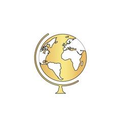 Globe computer symbol vector image vector image