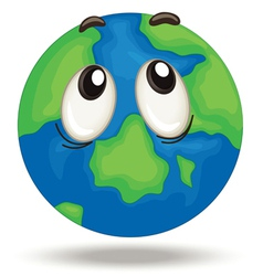 globe face vector image vector image